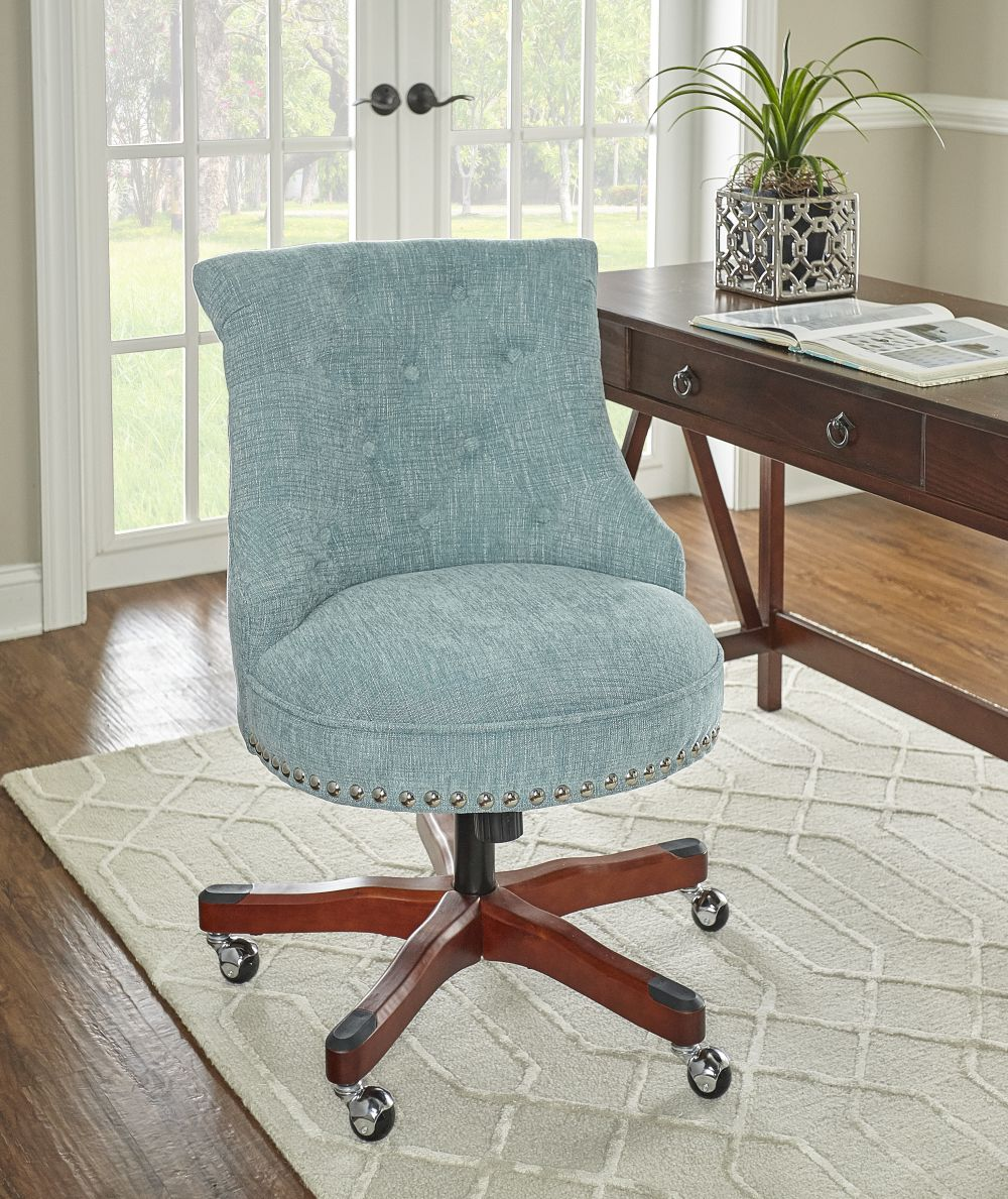 Sinclair Office Chair Aqua Alt1
