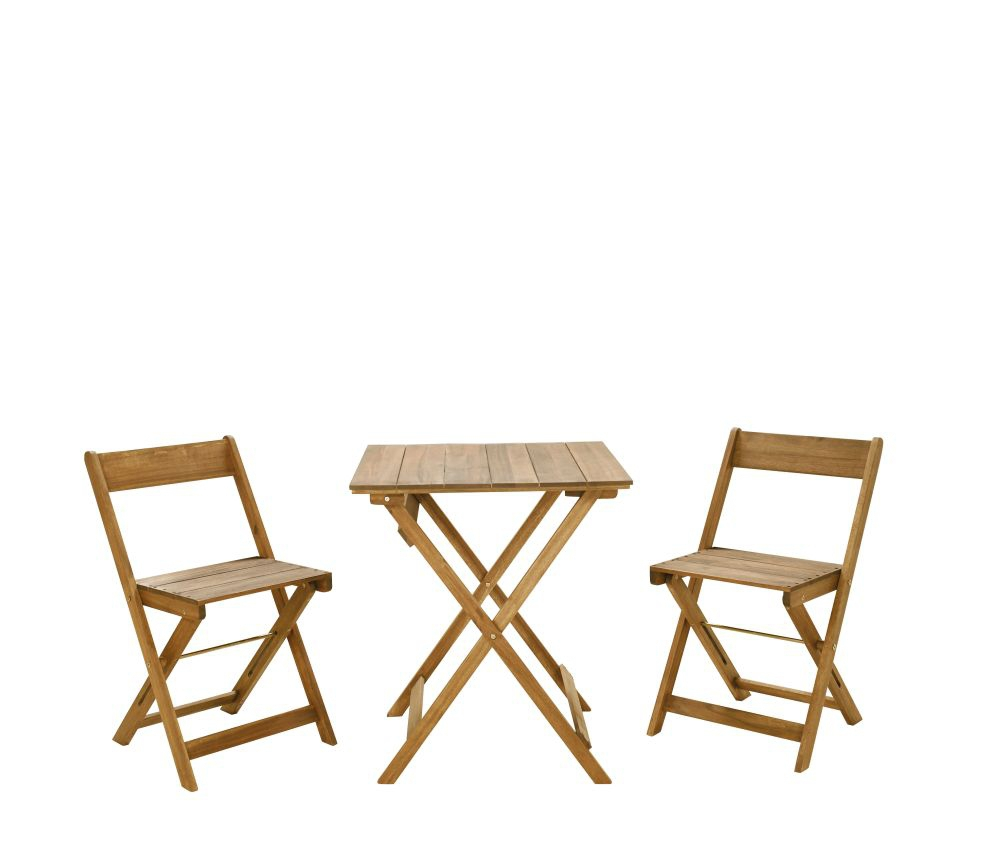 Nantucket 3pc Bistro Set Square Table Silo
