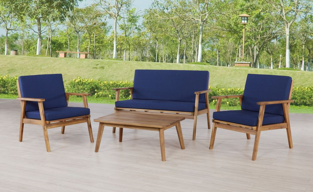 Cosgrove Outdoor Chat Set Blue Alt1