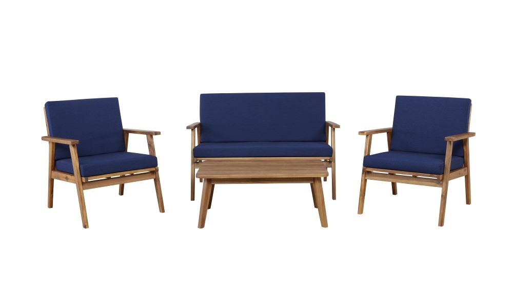 Cosgrove Outdoor Chat Set Blue Silo