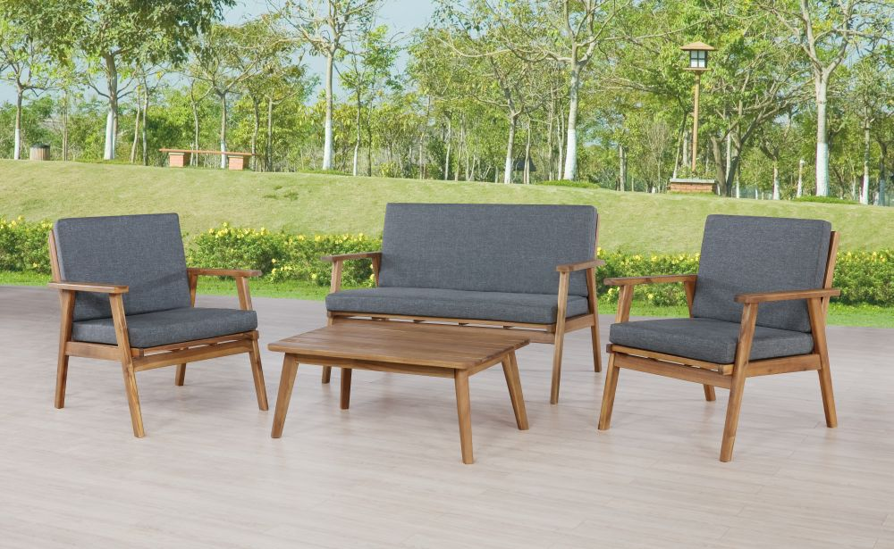Cosgrove Outdoor Chat Set Grey Alt1