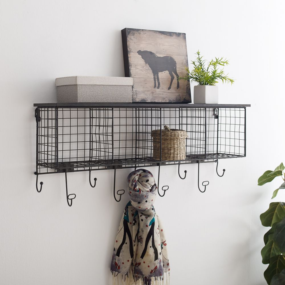 4 Cubby Wall Shelfblack Top- Alt1