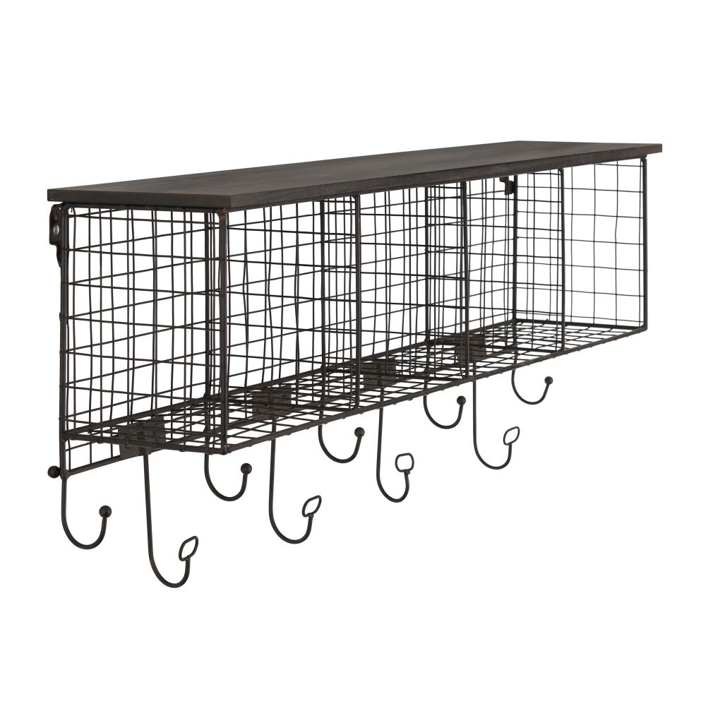 4 Cubby Wall Shelfblack Top- Silo