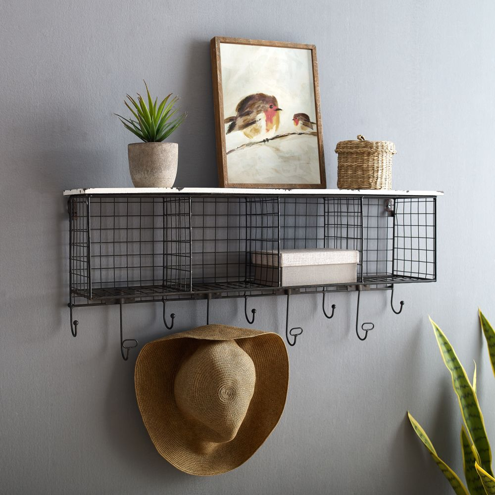 4 Cubby Wall Shelfwhite Top- Alt1