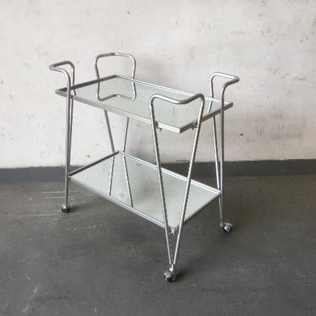 Ellie Silver Bar Cart Silo