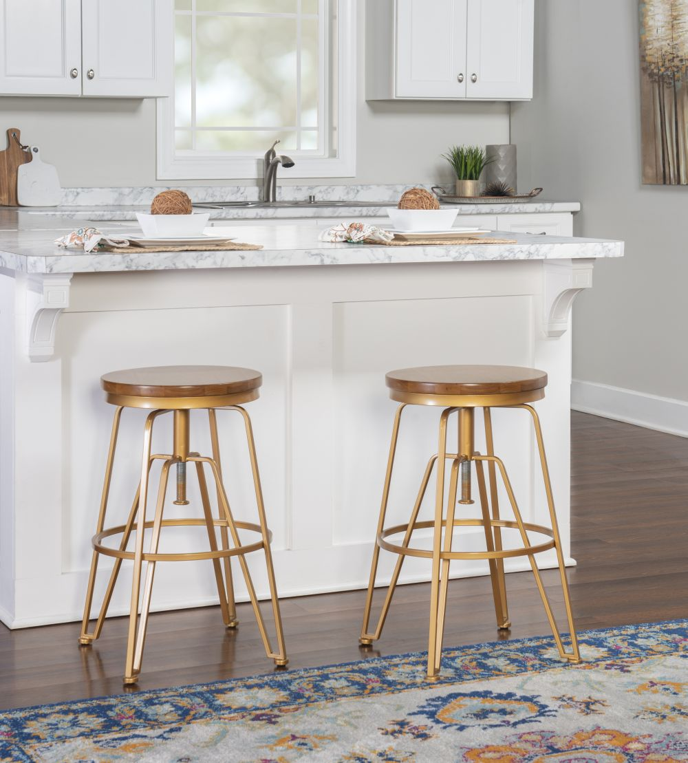 Toby Wood Metal Stool Mgold Alt1