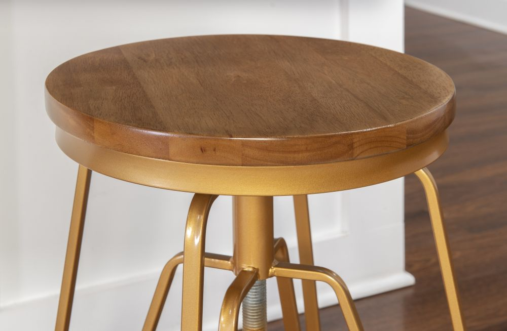 Toby Wood Metal Stool Mgold Alt2