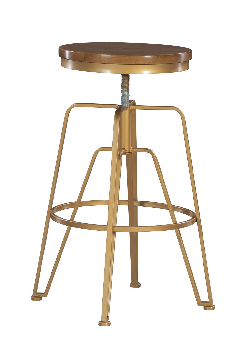 Toby Wood Metal Stool Mgold Alt3