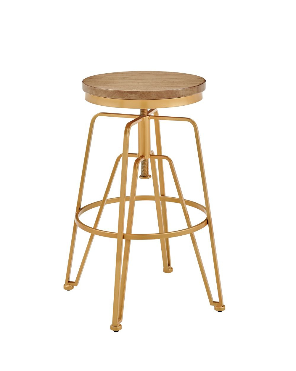 Toby Wood Metal Stool Mgold Silo